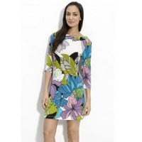 Emilio Pucci Printed Flower Short Dress - Pucci Sleeve/Knee Dress