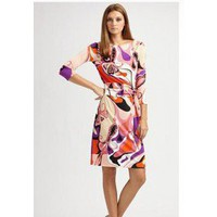 Emilio Pucci Sleeve Print Knee Dress - Pucci Sleeve/Knee Dress