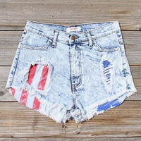 Born Wild Distressed Shorts, Women's Sweet Bohemian Clothing