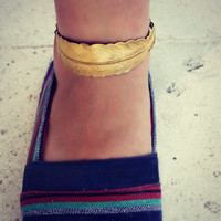 golden  feather anklet