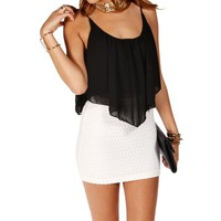 Black Shirt Tail Crop Tank