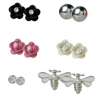 Womens - Brash - (6 pk) Rose and Bee Stud Earring Set - Payless Shoes