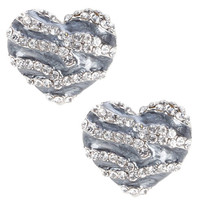 Womens - Brash - Women's Zebra Heart Stud Earrings - Payless Shoes