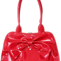 Cherry Bombshell Retro Patent Purse