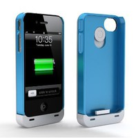 Amazon.com: Maxboost Hybrid Detachable Battery Case for iPhone 4S & iPhone 4 - White/Blue (1900 mAh, Fits All Versions of iPhone 4 & 4S): Home Improvement