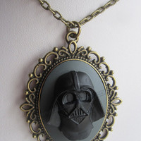 Darth Vader cameo Star Wars inspired Galactic Empire Pendant sci-fi cosplay necklace