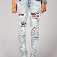 Pearl Patriot Straight Denim | Trendy Jeans at Pink Ice