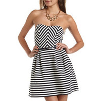 Belted Zip-Back Tube Dress: Charlotte Russe