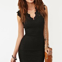 Lara Lace Dress - Black in  Clothes Dresses at Nasty Gal