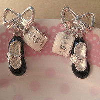 Bow Earrings Baby Charms by Bitsofbling on Etsy