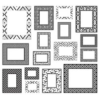 Black, Silver, and White Decal Frames Kit