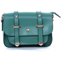 Cross Body Jade Leather Satchel - Unique Vintage - Prom dresses, retro dresses, retro swimsuits.