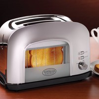 Nostalgia Electrics RWT500CHR Retro Series Window Toaster, Chrome