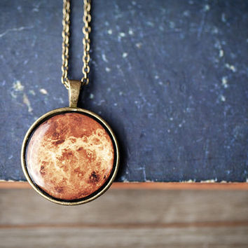 Planet Necklace - Venus - Autumn jewelry (N090)
