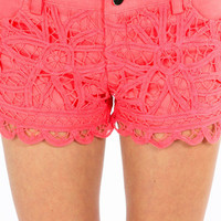 Lace Crochet Shorts $37