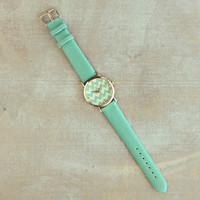 Pree Brulee - Mint Chevron Stripes Watch