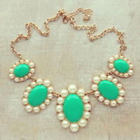 Pree Brulee - Mint Marie Antoinette Necklace