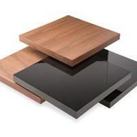 5-Tier Coffee Table - This modern contemporary wooden coffee table has five layers that can rotate 360 degree. Sleek sofa table.