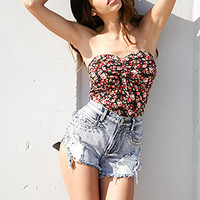 Ruched Floral Tube Top | FOREVER 21 - 2074115766