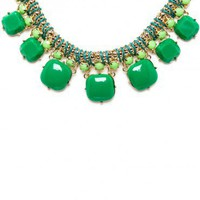 Deedra Necklace in Green - ShopSosie.com