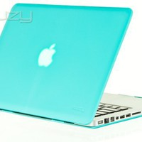 Kuzy® - Teal / Turquoise Hot Blue 13inch Rubberized Hard Case Satin Cover for NEW Macbook PRO 13.3""