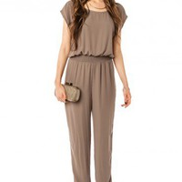 Estabrook Jumpsuit in Olive - ShopSosie.com