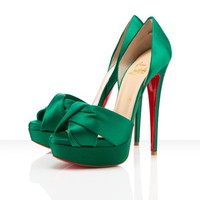 Christian Louboutin Volpi 150mm Emerald Shoes - &amp;#36;164.00
