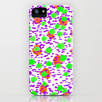 Polka Dot Orange iPhone & iPod Case by Amy Sia