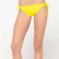 Sun Dancer Scalloped Brazilian String Bikini Bottom