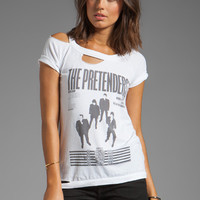 Chaser The Pretenders Graphic Vintage Jersey Deconstructed S/S Tee in White from REVOLVEclothing.com