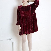 Velvet Angel Dress Burgundy - THE WHITEPEPPER