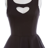 Blackhearted Vixen Peplum Top - PLASTICLAND