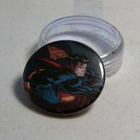 "Comic Book 1.5"" Button// Superman"