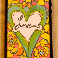 Blooming Love Iphone case Iphone cover love by TheGawkyGiraffe