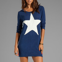 Backstage EXCLUSIVE Starchild Dress in Navy from REVOLVEclothing.com