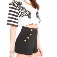 Zebra Sleeve Crop Top
