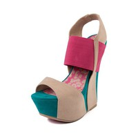 Womens Dollhouse Rigorous Wedge, Fuchsia Multi | Journeys Shoes