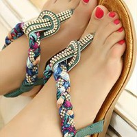 Bohemian Style Drill Design Sandal FN16 from CelebrityStreet
