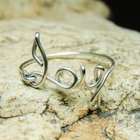 JOY - Sterling silver wire ring - joy wire ring by keoops8