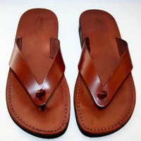Brown Surf Leather Sandals | SANDALI - Clothing on ArtFire