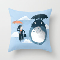 The Perfect Neighbor Throw Pillow by Anna-Maria Jung