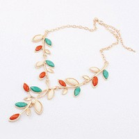 Colorful Leaves Statement Necklace | LilyFair Jewelry