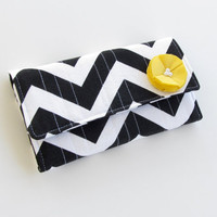 Women&#x27;s Wallet Black and White Chevron by AccessoriesByBethany