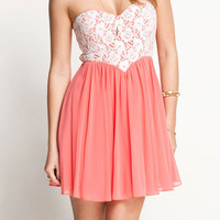 Nice Pink Lace Camisette Dress