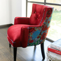 "Haute House - ""Lipstick Rose"" Chair - Horchow"