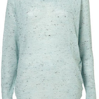 Speckle Neppy Panel Sweat - Jersey Tops - Apparel - Topshop USA