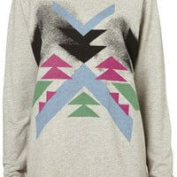 Aztec Rainbow Speckle Sweat - Sweats &amp; Long Sleeved Tees - Jersey Tops - Apparel - Topshop USA