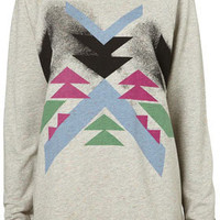 Aztec Rainbow Speckle Sweat - Sweats & Long Sleeved Tees - Jersey Tops - Apparel - Topshop USA