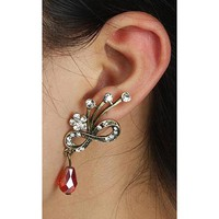 Festival Mask Rhinestone Single Ear Cuff | LilyFair Jewelry