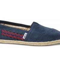 Embroidered Navy Women's Classics | TOMS.com